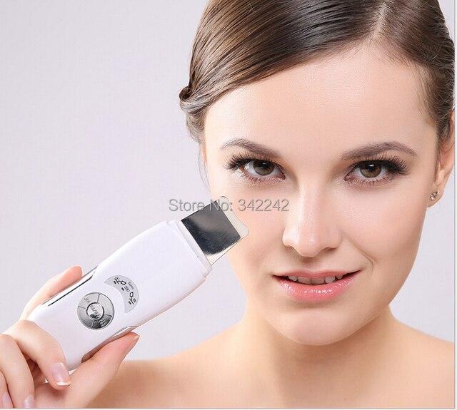 Глубоко ультразвуковой кожи лица пор чистки устройства угорь устройство удаления пилинг лопатой эксфолиатор глубоко очистить кожу
