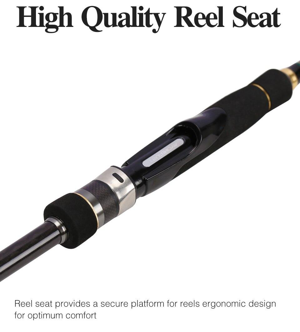 eva lidar com alta qualidade carbono spnning vara de pesca
