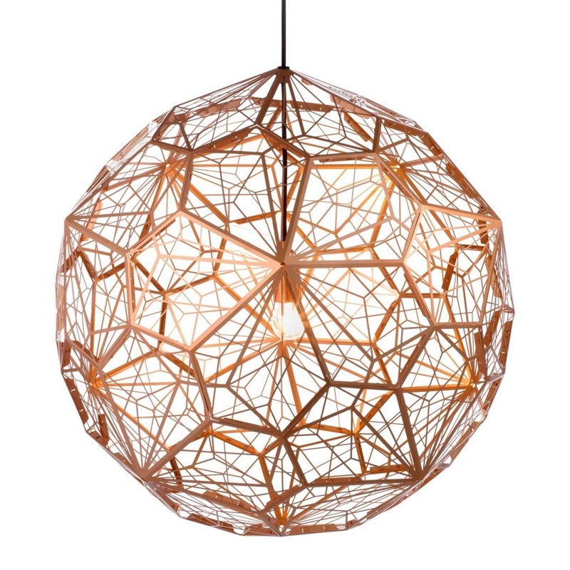 Modern Nordic Copper LED Pendant Lights rope Pendant Lamps globe Ball Lamp Fixtures Lustre Suspension Luminaire Metal Lighting