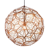 Modern Nordic Copper LED Pendant Lights Rope Pendant Lamps Globe Ball Lamp Fixtures Lustre Suspension Luminaire