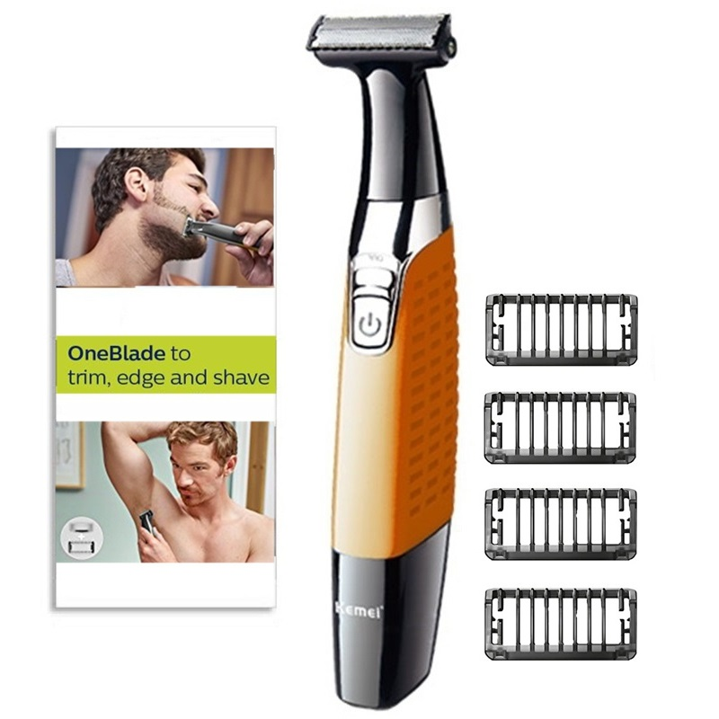 one blade Men beard trimmer body grooming head trimming stubble electric trimmer face shaping tool hair cutting machine