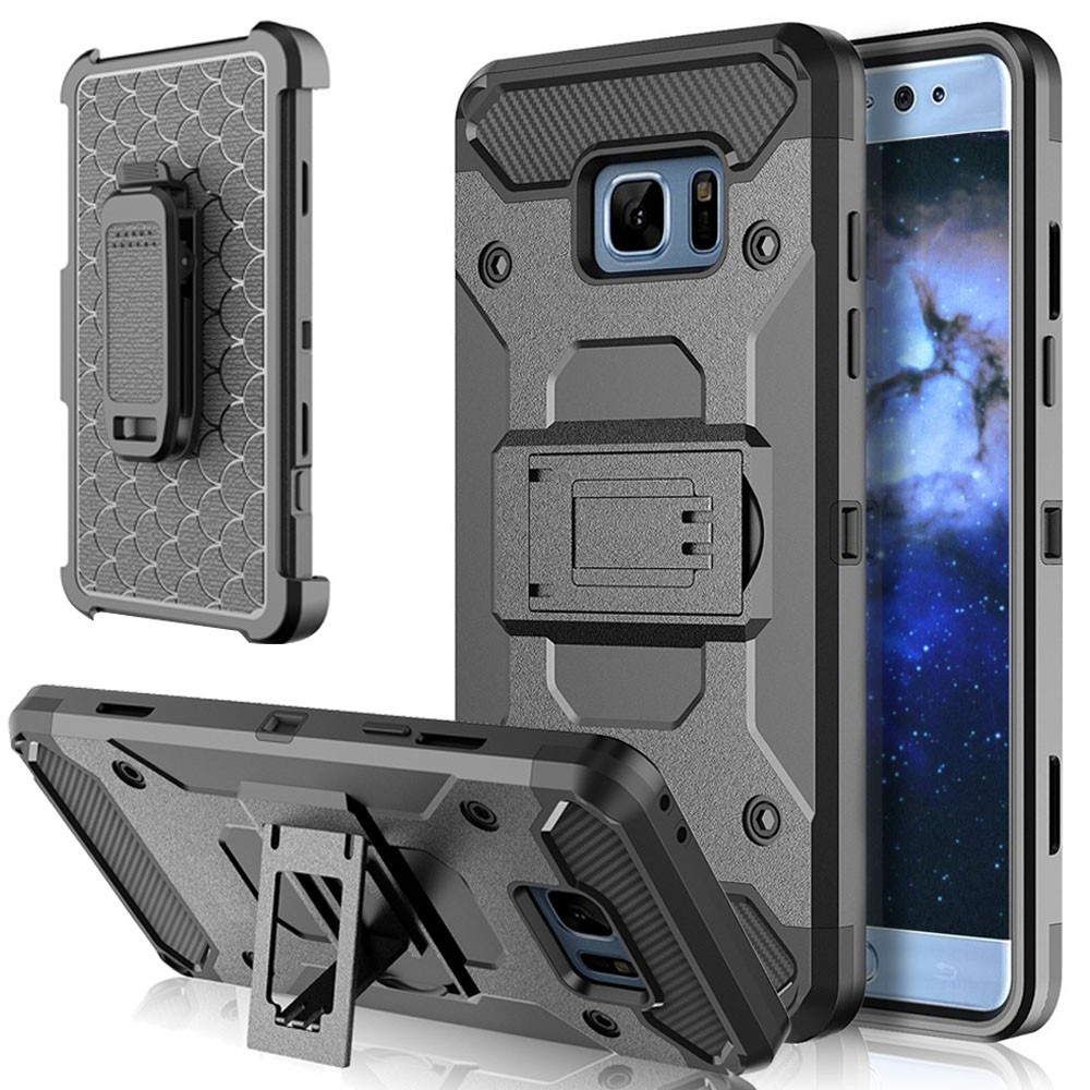 Hybrid Armor Case Belt Clip Holster Cover For Samsung Galaxy XCover 4 S8 Active S9 Plus Note 8 9 A8 J2 Pro J3 J5 J7 J8 2017 2018 image
