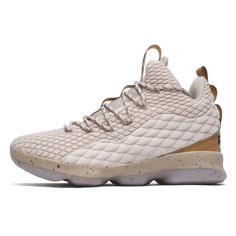 2019 Four Seasons New Non slip Wear resistant Breathable Fashion Fly Woven Large Size Couple High Basketball Shoes JINBEILE in Basketball Shoes from Sports Entertainment