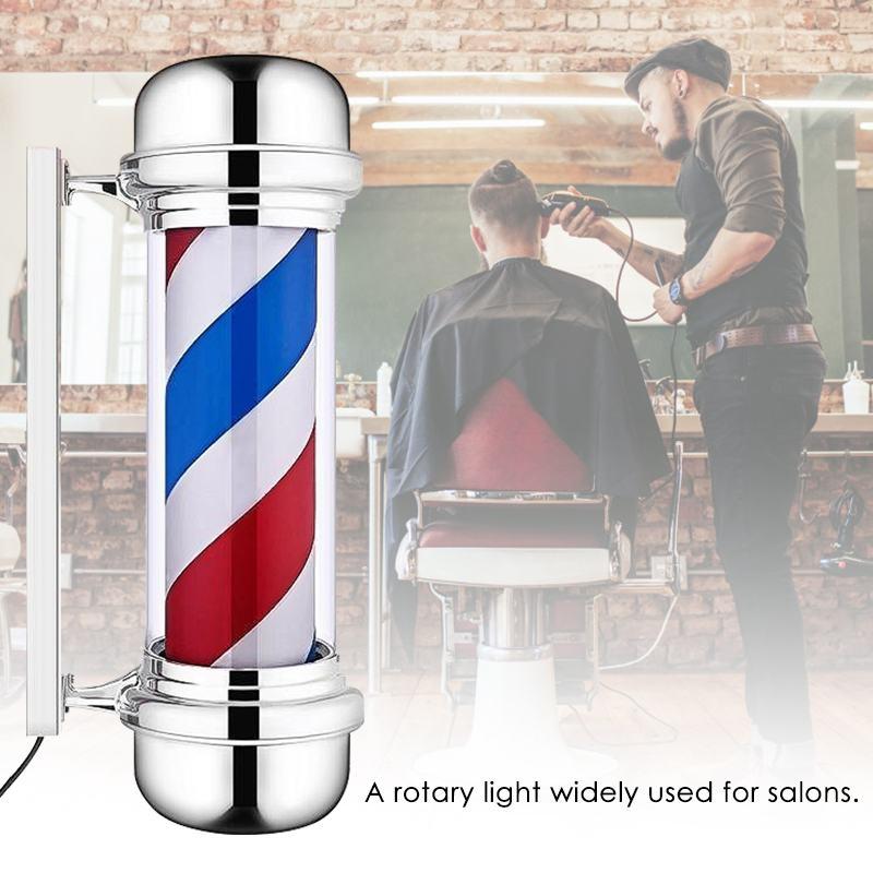 55cm salon de coiffure pôle rotatif éclairage rouge blanc bleu rayure rotative lumière rayures signe cheveux tenture murale LED Downlights - 2