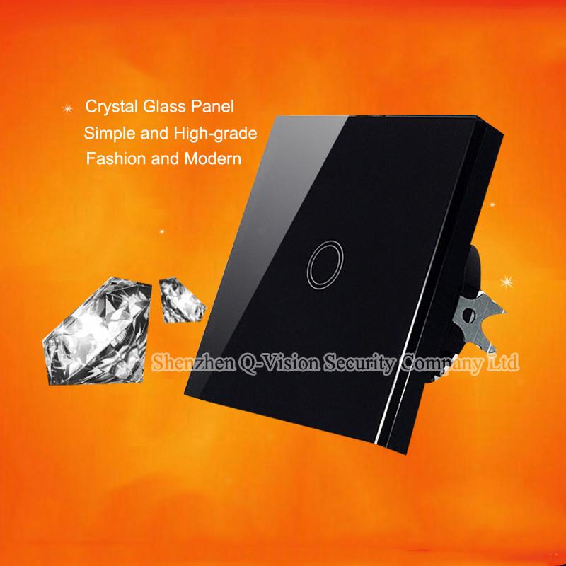 3-EU 1Gang 2Way Smart Home Wifi Light  Switch Remote Control Wall Switch Crystal Panel 110-220V RF433 Compatibl Broadlink RM Pro