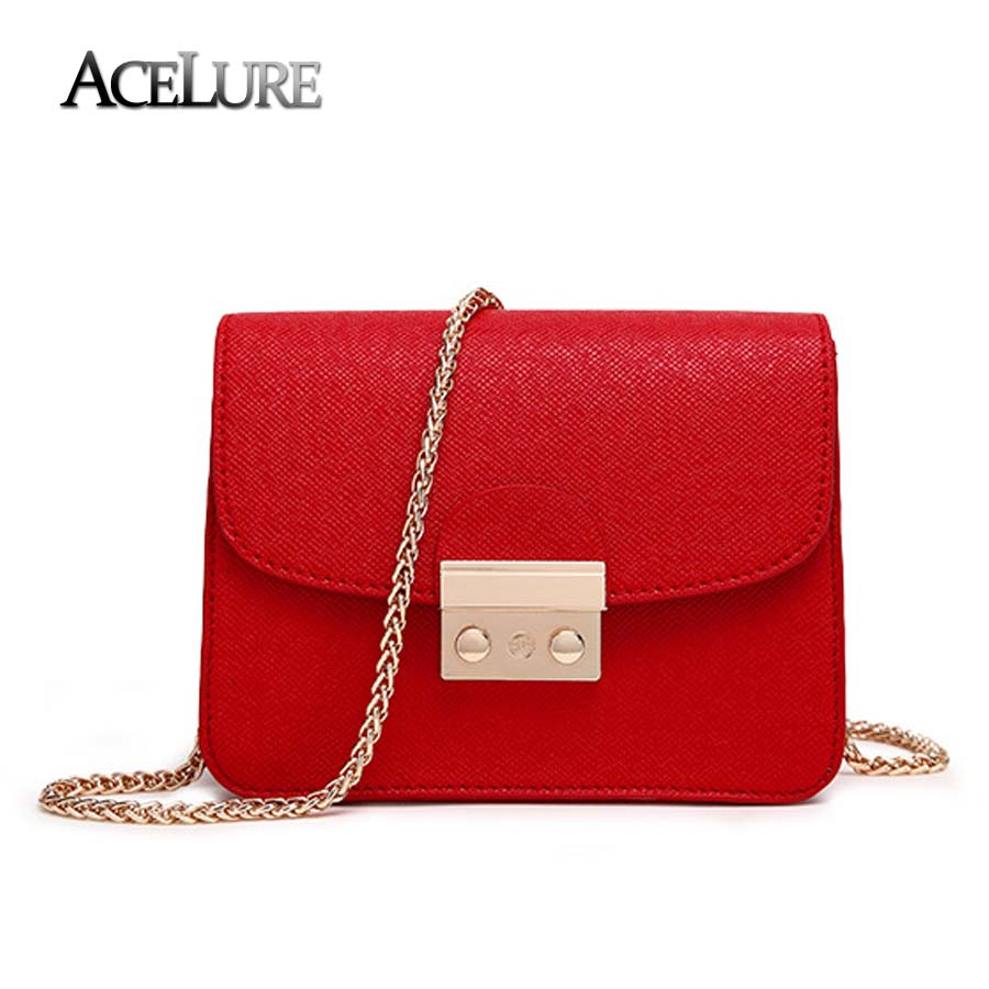 ACELURE Alligator Crocodile PU Leather Handbag Mini Small Women Crossbody Bag Chic Chain Women Messenger Shoulder Bag Feminina цена 2017
