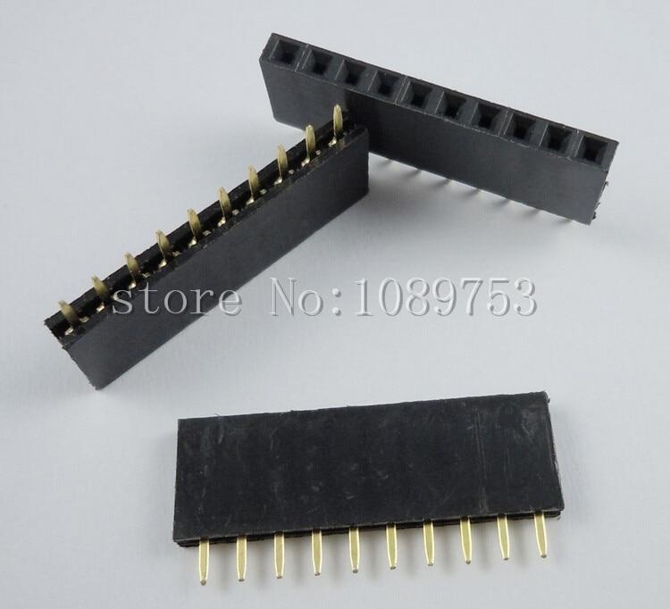 Broches longues 11mm Pas 2.54mm Arduino Barrettes de connexion femelles