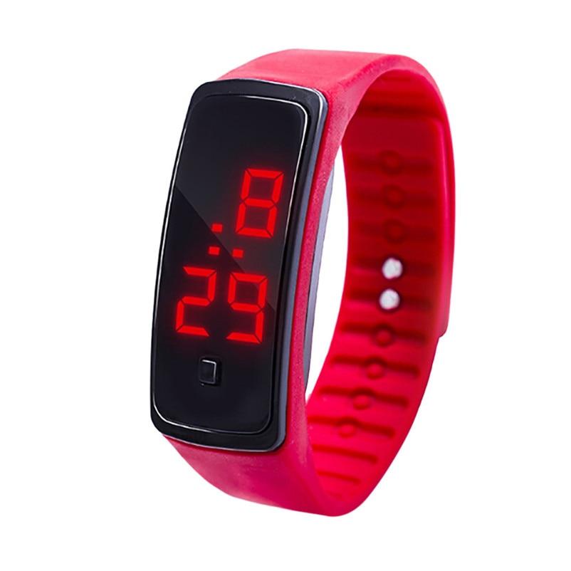 Simple Men Watch LED Digital Display Bracelet Watch Children's Students Silica Gel Sports Watch Clock relojes hombre Y09#N (10)