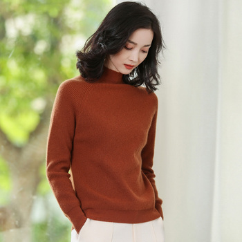 JECH 2017New Autumn Winter Fashion Women Cashmere Sweater Comfortable Casual Turtleneck Sweater Women Long Sleeve Knitted Pullov