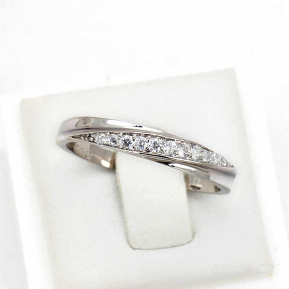 Phụ nữ Nhẫn Đơn Giản Đám Cưới Cao Cấp Zircon phụ nữ nhẫn phụ nữ tối giản engagement ring anillo mujer