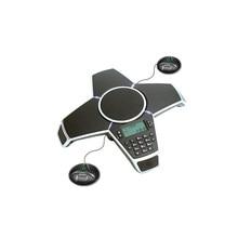 A500EE Um PSTN Telefone Reunião com Extensão 2 Pequenos Microfones para Sistema de Conferência de áudio de Som