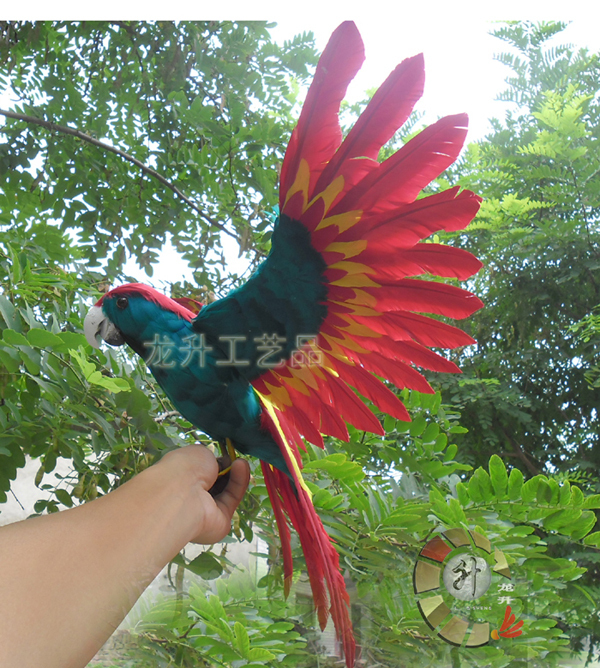 new simulation flying parrot toy polyethylene & furs green and red parrot model gift about 70x40cm 1941 new simulation flying parrot toy polyethylene