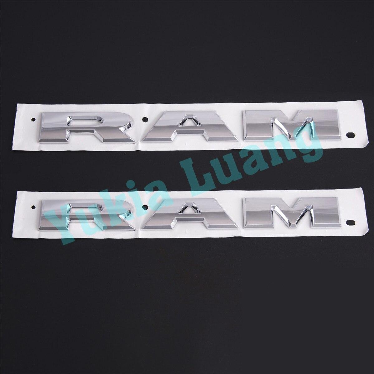 Chrome 3D RAM ABS OEM Mopar L/R porte latérale porte arrière plaques signalétiques emblème Badge 2 pièces