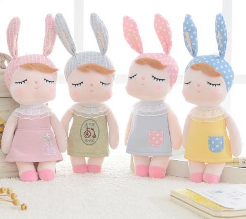 Плюшевые животные мультфильм детские игрушки для девочек дети ребенок день рождения Рождественский подарок Ангела Кролик Кукла