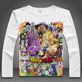2015 Dragon Ball Z T-shirt japón Anime Son Goku Super Saiyan camisetas de manga larga hombres de moda cómoda transpirabilidad Tees