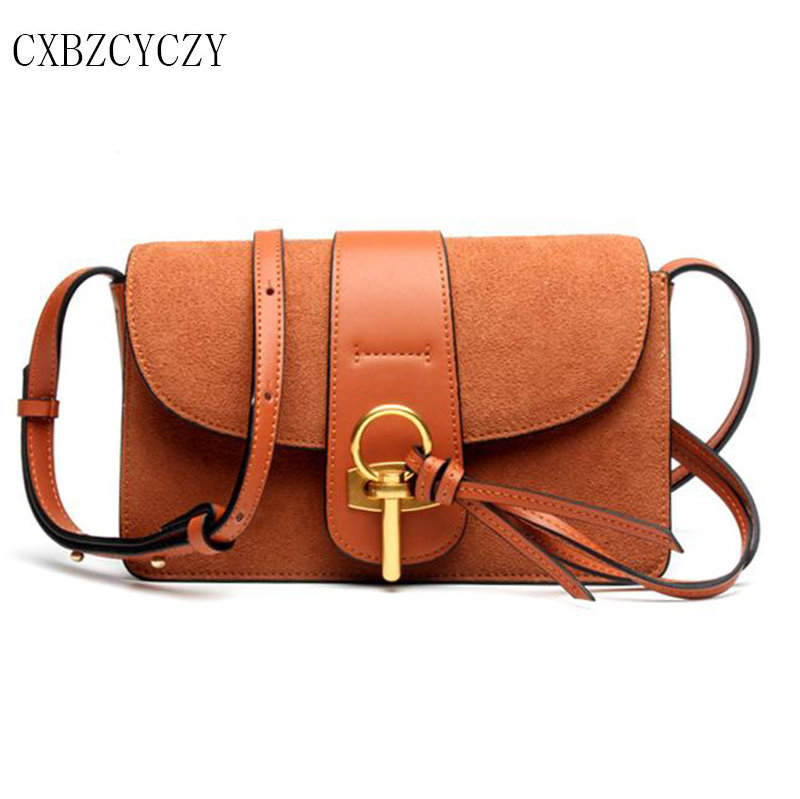 все цены на Women Messenger Bags Cow Genuine Leather Crossbody Scrub leather Bags For Women Famous brand Handbags Small square bag Bolsas