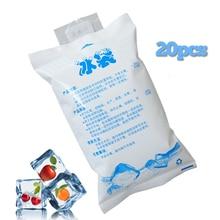 20pcs/lot 400ml reusable cold gel ice pack koeltas cubes medical ice gel packs cubes cooler picnic ice packs insulation food bag