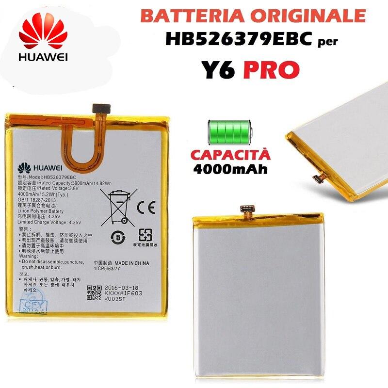 Original Huawei HB526379EBC telefon batterie Für Huawei Y6 Pro Genießen 5 HONOR 4c pro TIT-L01 TIT-TL00-CL00 TIT-CL10 4000 mAh