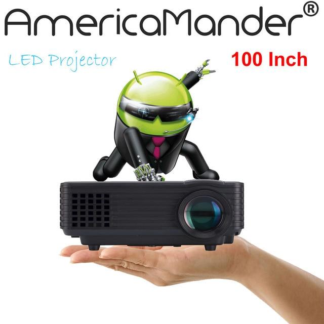 2016 Newest Android HDMI Cable 800 Lumen Projector Mini LED Portable Beamer Cinema Proyector VGA TV USB HDMI AV