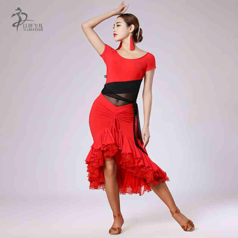 ⑥Latin Dance Dress Women Latin Salsa Dresses Ballroom Practice ...