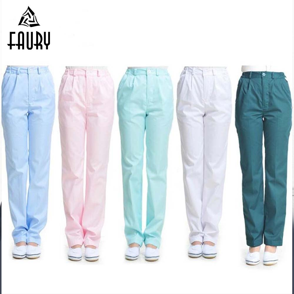 Women Nurse Elastic Waist Pants Female Breathable Thicken Medical Service Doctor Physician Drugshop Beauty Salon Work Pants