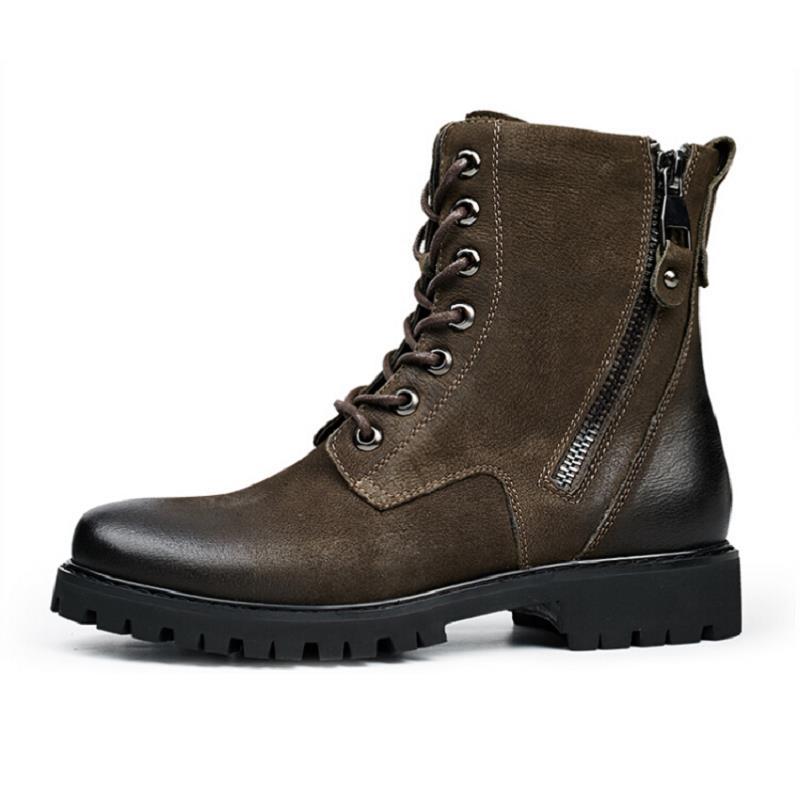 Pelúcia Dr Mycolen Couro Inverno Pele Alta De Do Vintage brown Botas Calçados Martin Preto Dos Homens Genuíno Mornas Motocicleta Sapatos Top Da New 7qr4Fa7wO