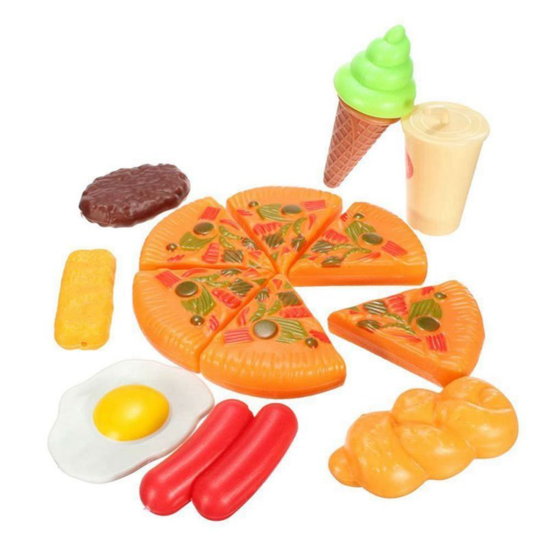 13pcs Funny Kids Plastic Pizza Cola Ice Cream Food Kitchen Role Play Toy Hot Set in Kitchen Toys from Toys Hobbies