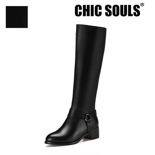 c41b500f1c4 Plus Tamaño de Invierno Barato Para Mujer Rodilla Botas Altas Venta Genuina  de cuero Delgada Botas