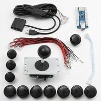 Zero Delay Gaming Joystick Set USB Encoders Board Arcade Game DIY 24mm 30mm Buttons 5Pin Joystick