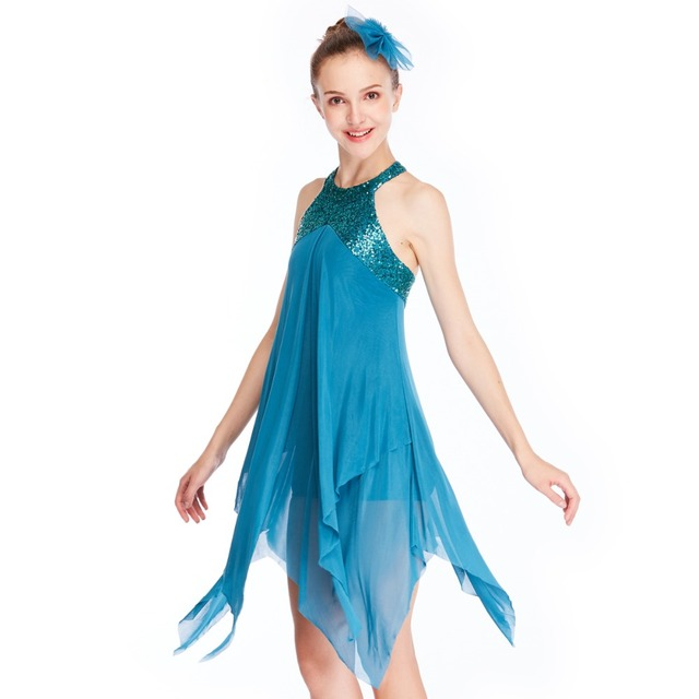 7ee354271e40c MiDee Elegant Lyrical Dance Costumes Dresses Stage Performance Dress  Gymnastics Skating Lyrical Dance Dresses