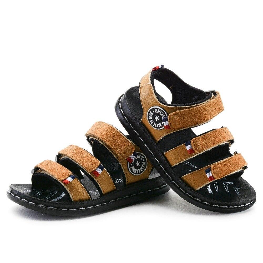 Sandały z naturalnej skóry Męskie dziecięce Dla chłopców - Obuwie dziecięce - Zdjęcie 4
