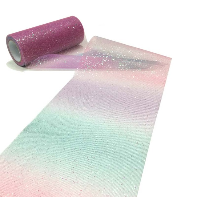 Rainbow Tulle Roll Spool Fabric Ribbon Bolt DIY Table Tutu Skirt Gift Craft Bag Party Bow