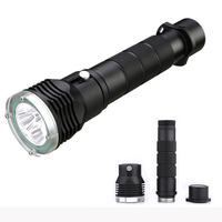 W36N Professional Diving Light 5000 Lumens High Power Diving Flashlight 3 LED Flashlight Waterproof Diving Torch