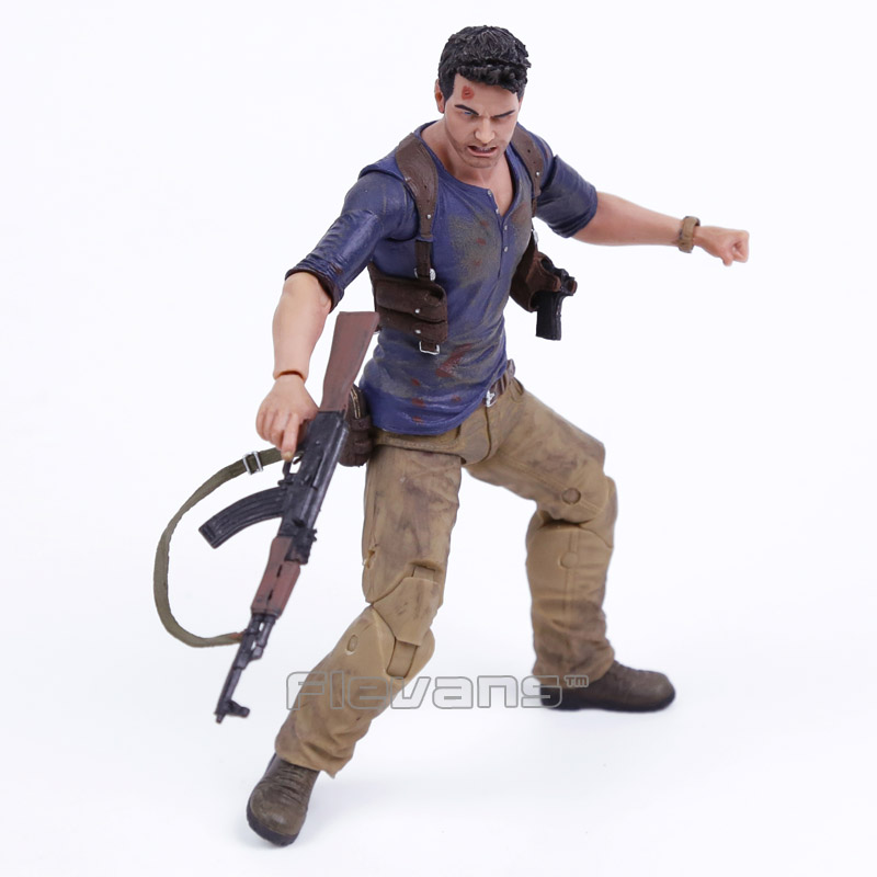 NECA Uncharted 4 A thief's end NATHAN DRAKE Ultimate Edition PVC Action Figure Collectible Model Toy 7 18cm neca epic marvel deadpool ultimate collectible 1 4 scale action figure model toy 16 45cm ems free shipping