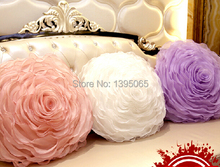 Rose pillow wedding cushion Rose pillow wedding gift for her rose decor pillow colorful flower cushoin