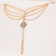 2017 Hot sales Beach Fashion Multi Tassel Hollow Flower Chain Anklet Toe Bracelet Chain Link Foot Jewelry Anklet Free Shipp