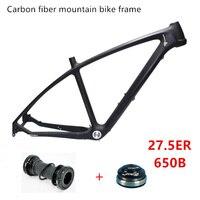 Прохладный цена Сверхлегкий вес 650B внутренний кабель Run Скрытый Кабель 17 дюймов 27.5 er UD Полный углерода MTB раме велосипеда