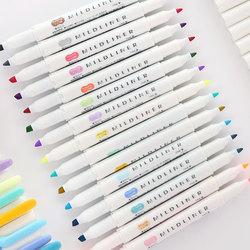 1pcs japanese stationery zebra mild liner double headed fluorescent pen hook pen highlighter pen color mark.jpg 250x250