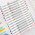 JIANWU 1pcs Japanese stationery zebra Mild liner double headed fluorescent pen hook pen highlighter pen color Mark pen cute