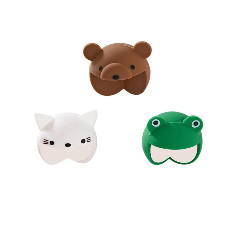 2pcs Safety  Protector Cute Animal Security Edge Corner Guards Silicone For Baby Soft Table Desk Green Frog Light Brown Bear