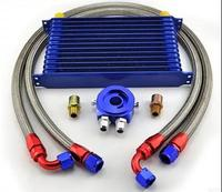 Universal TRUST Type Japanese 13rows AN10 oil cooler radiator kit+straight filter adaptor Relocation Sandwich Plate