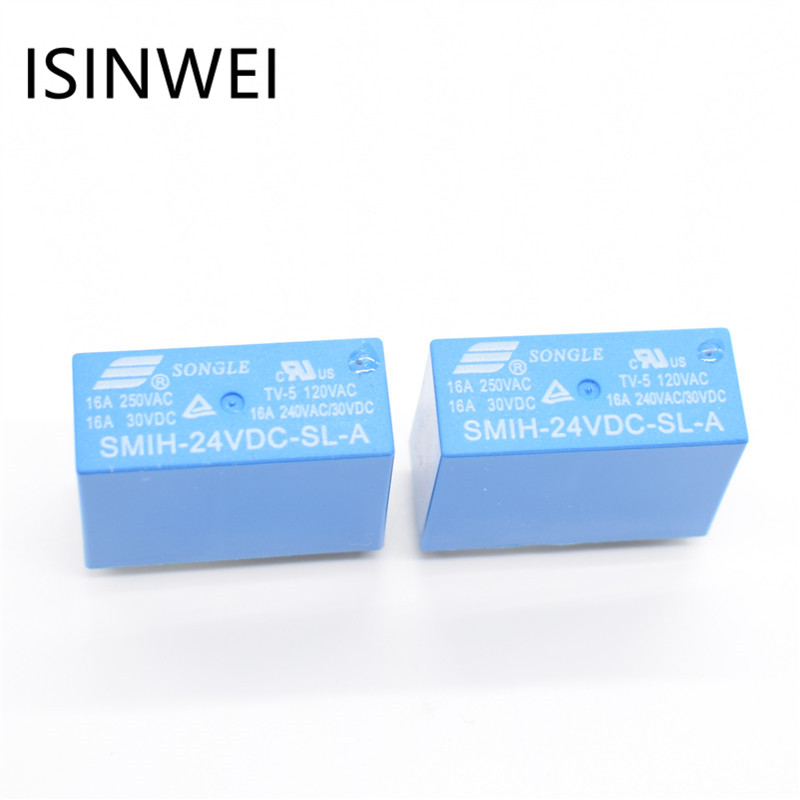Power Relays SMIH-24VDC-SL-A 24V 16A 6PIN A group of normally open free shipping 2pcs smih 05vdc sl c smih 12vdc sl c smih 24vdc sl c 05 12 24 v relays 16a 250v