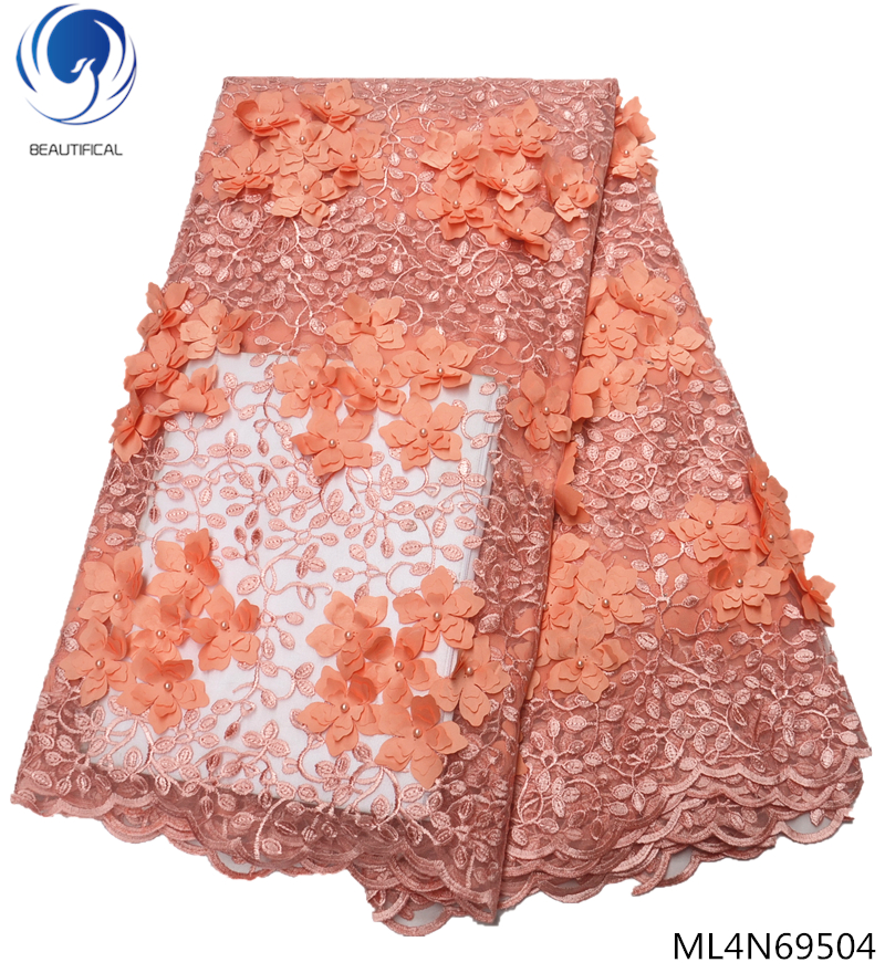 BEAUTIFICAL white 3d lace fabric african net lace fabrics for wedding lace dresses 2019 high quality ML4N695BEAUTIFICAL white 3d lace fabric african net lace fabrics for wedding lace dresses 2019 high quality ML4N695