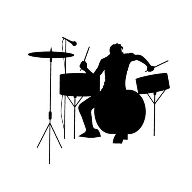 Wholesale 5pcs10pcs1917cm drums drummer silhouette rock band music car stickers