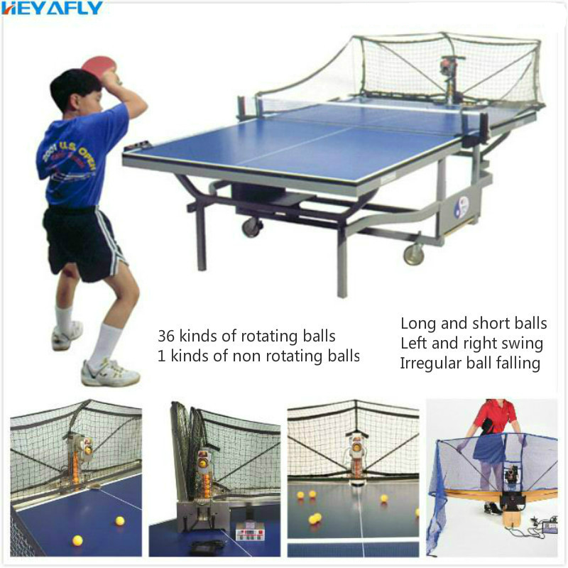 Tennis De Table Servir Machine Automatique Ball Collection Collection Réseau Dernier Modèle Complet Fonction Tangage de Servir De Machine