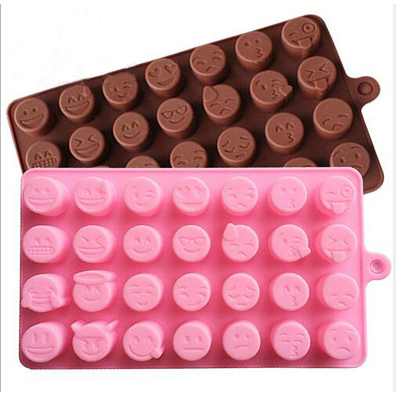 Nouveau moule en Silicone d'expression Emoji pour gâteau chocolats bonbons glace cuisson chaude