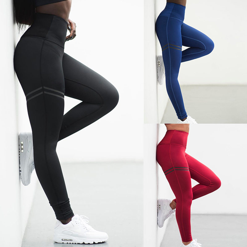 Leggings Pant Trouser High Waist Elasticity For Women Lady Running Gym Fitness NFE99