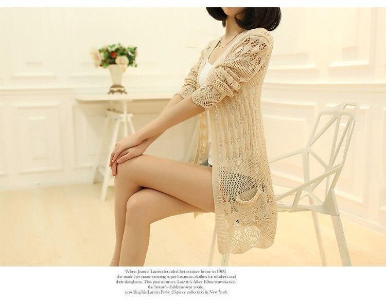 Womens Sweater Spring Jacket Loose Shawl 51