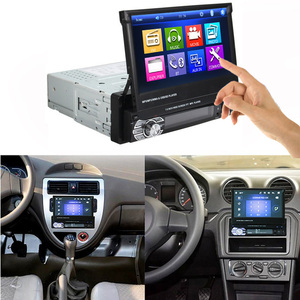 "Image 2 - Podofo One din Car radio MP5 Player GPS Navigation Multimedia car audio stereo Bluetooth 7"" HD Retractable Autoradio AUX IN /FM"