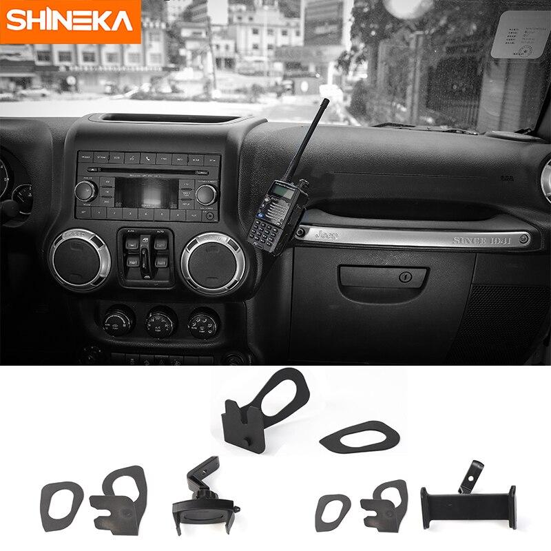 SHINEKA Voiture Support GPS pour Jeep Wrangler JK Interphone Support Téléphone Support Ipad pour Jeep Wrangler JK 2012 + accessoires